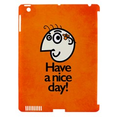 Have A Nice Day Happy Character Apple Ipad 3/4 Hardshell Case (compatible With Smart Cover)