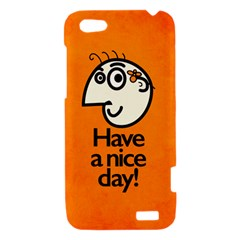 Have A Nice Day Happy Character HTC One V Hardshell Case