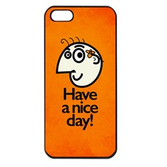 Have A Nice Day Happy Character Apple iPhone 5 Seamless Case (Black)