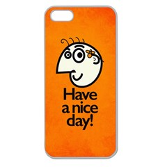 Have A Nice Day Happy Character Apple Seamless iPhone 5 Case (Clear)
