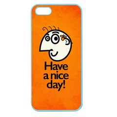 Have A Nice Day Happy Character Apple Seamless Iphone 5 Case (color)