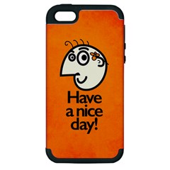 Have A Nice Day Happy Character Apple Iphone 5 Hardshell Case (pc+silicone)