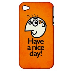 Have A Nice Day Happy Character Apple iPhone 4/4S Hardshell Case (PC+Silicone)