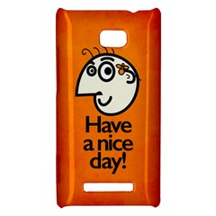 Have A Nice Day Happy Character HTC 8X Hardshell Case