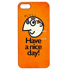 Have A Nice Day Happy Character Apple Iphone 5 Hardshell Case With Stand