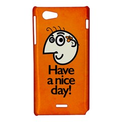Have A Nice Day Happy Character Sony Xperia J Hardshell Case