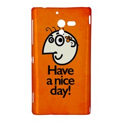Have A Nice Day Happy Character Sony Xperia ZL (L35H) Hardshell Case