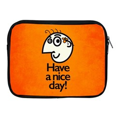Have A Nice Day Happy Character Apple iPad Zippered Sleeve