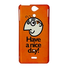 Have A Nice Day Happy Character Sony Xperia V Hardshell Case