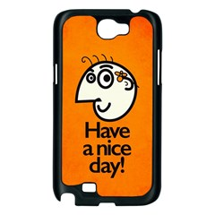 Have A Nice Day Happy Character Samsung Galaxy Note 2 Case (Black)
