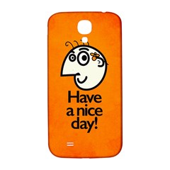 Have A Nice Day Happy Character Samsung Galaxy S4 I9500/i9505  Hardshell Back Case