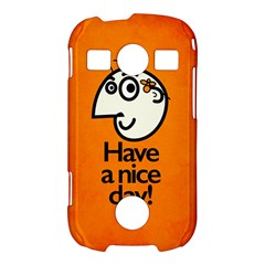 Have A Nice Day Happy Character Samsung Galaxy S7710 Xcover 2 Hardshell Case