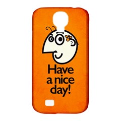 Have A Nice Day Happy Character Samsung Galaxy S4 Classic Hardshell Case (pc+silicone)