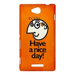 Have A Nice Day Happy Character Sony Xperia C (S39H) Hardshell Case