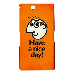 Have A Nice Day Happy Character Sony Xperia Z Ultra (XL39H) Hardshell Case