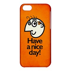 Have A Nice Day Happy Character Apple iPhone 5C Hardshell Case