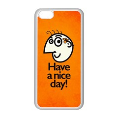 Have A Nice Day Happy Character Apple iPhone 5C Seamless Case (White)