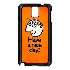 Have A Nice Day Happy Character Samsung Galaxy Note 3 N9005 Case (Black)