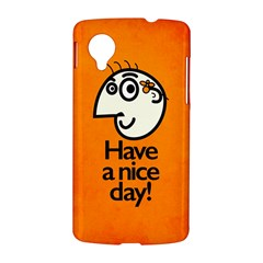 Have A Nice Day Happy Character Google Nexus 5 Hardshell Case