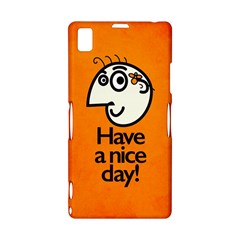 Have A Nice Day Happy Character Sony Xperia Z1 L39H Hardshell Case