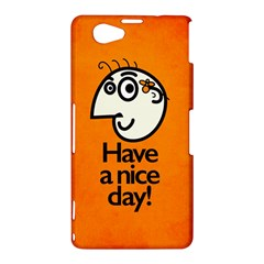 Have A Nice Day Happy Character Sony Xperia Z1 Compact Hardshell Case