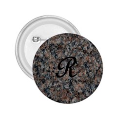 Pink And Black Mica Letter R 2.25  Button