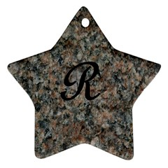 Pink And Black Mica Letter R Star Ornament