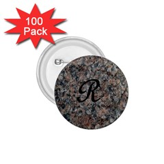 Pink And Black Mica Letter R 1 75  Button (100 Pack)