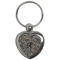 Pink And Black Mica Letter R Key Chain (heart)