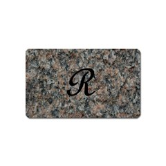 Pink And Black Mica Letter R Magnet (Name Card)