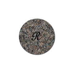 Pink And Black Mica Letter R Golf Ball Marker