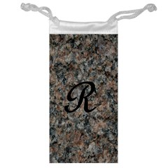 Pink And Black Mica Letter R Jewelry Bag