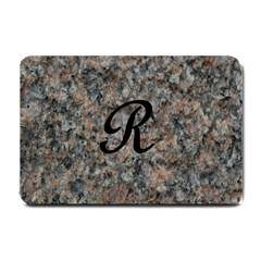 Pink And Black Mica Letter R Small Door Mat