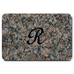 Pink And Black Mica Letter R Large Door Mat