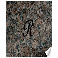 Pink And Black Mica Letter R Canvas 11  x 14  (Unframed)