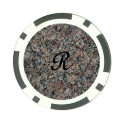 Pink And Black Mica Letter R Poker Chip