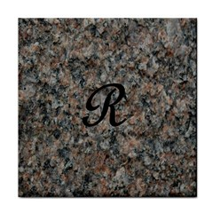 Pink And Black Mica Letter R Face Towel
