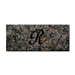 Pink And Black Mica Letter R Hand Towel
