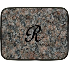 Pink And Black Mica Letter R Mini Fleece Blanket (Two Sided)