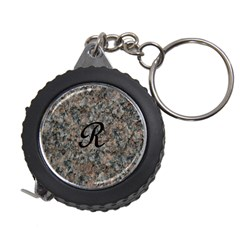 Pink And Black Mica Letter R Measuring Tape