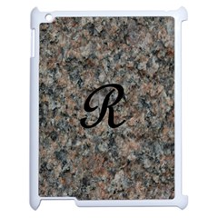 Pink And Black Mica Letter R Apple iPad 2 Case (White)