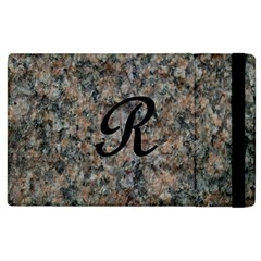 Pink And Black Mica Letter R Apple Ipad 2 Flip Case