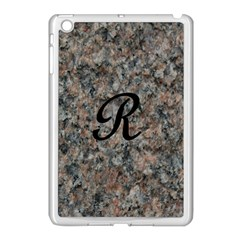 Pink And Black Mica Letter R Apple Ipad Mini Case (white)