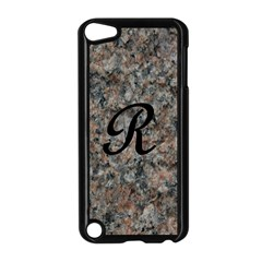 Pink And Black Mica Letter R Apple iPod Touch 5 Case (Black)