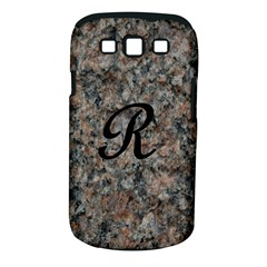 Pink And Black Mica Letter R Samsung Galaxy S III Classic Hardshell Case (PC+Silicone)