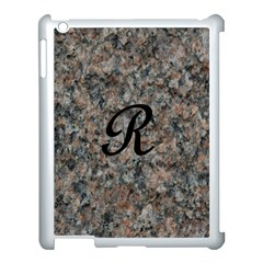 Pink And Black Mica Letter R Apple Ipad 3/4 Case (white)