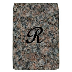 Pink And Black Mica Letter R Removable Flap Cover (large)
