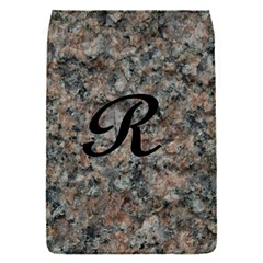 Pink And Black Mica Letter R Removable Flap Cover (Small)
