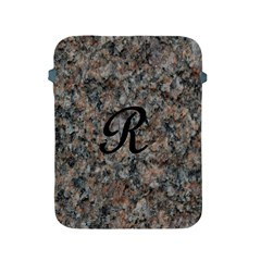 Pink And Black Mica Letter R Apple iPad Protective Sleeve