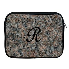 Pink And Black Mica Letter R Apple Ipad Zippered Sleeve